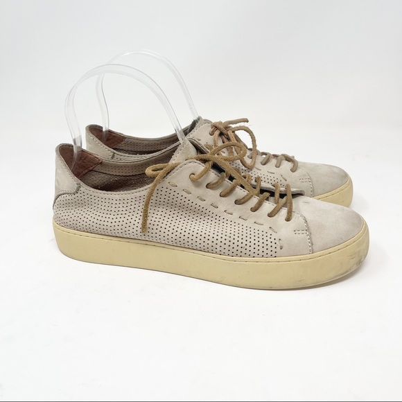 FRYE LENA PERF LOW LACE Sneaker Perforated Leather